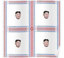 ♥ Happy&Sad Supreme Leader Kim Jong Un Plaid ♥ Poster