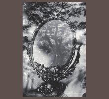 mirror and tree double exposure One Piece - Short Sleeve
