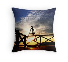 Tripod On Action Throw Pillow