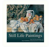 Still Life Paintings Avatar Art Print