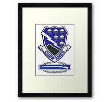 Currahee Patch & Combat Infantry Badge (CIB) Framed Print
