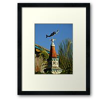 The Mermaid And The Star Framed Print
