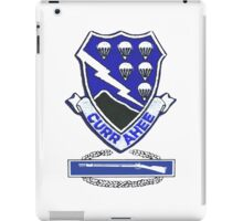 Currahee Patch & Combat Infantry Badge (CIB) iPad Case/Skin