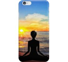 Serenity - Yoga on the Beach iPhone Case/Skin