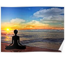Serenity - Yoga on the Beach Poster