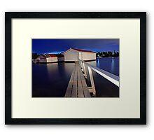 Mosman Bay Boatsheds  Framed Print