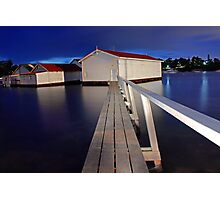 Mosman Bay Boatsheds  Photographic Print