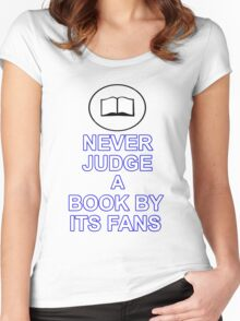 Never Judge A Book Women's Fitted Scoop T-Shirt