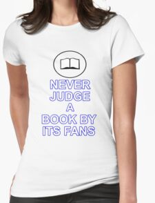 Never Judge A Book Womens Fitted T-Shirt