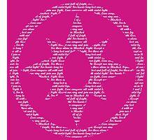 Violet Lantern Corps (White) Photographic Print