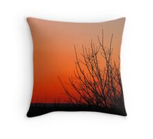 Sunset End Throw Pillow