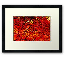 red wire Framed Print