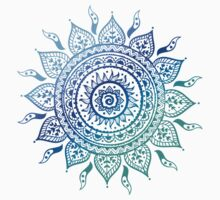 Blue Gradient Mandala  by adjsr