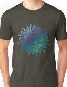 Blue Gradient Mandala  Unisex T-Shirt