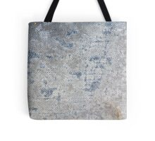 Texture of blue old vintage denim fabric Tote Bag