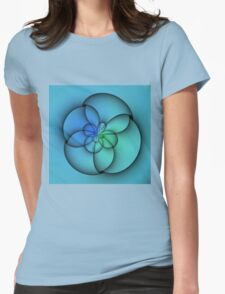 Silky blue green pattern. Womens Fitted T-Shirt