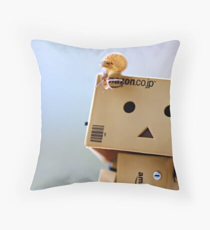 the first encounter Throw Pillow
