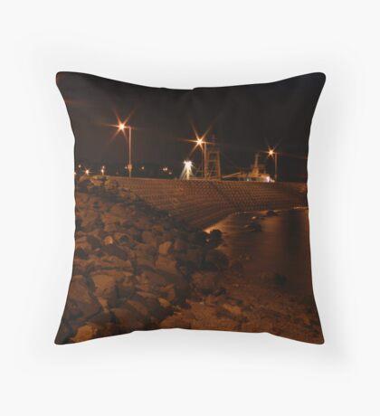 Bangor Pier at Night Throw Pillow