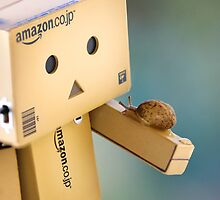 when Danbo meet Gary by Natalia Campbell