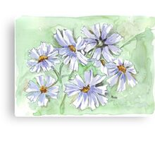 Cosmos in Blue Canvas Print