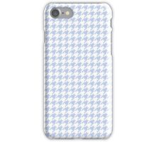 Alice Blue Houndstooth in English Country Garden iPhone Case/Skin
