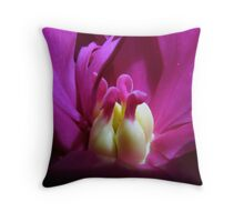 Inner Peony Throw Pillow