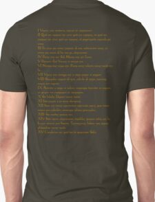 Emerald Tablet of Hermes  Unisex T-Shirt