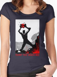 Paint the Grass Red... Women's Fitted Scoop T-Shirt