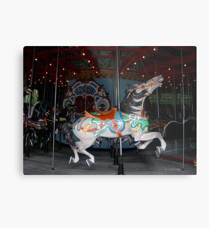 Central Park Carousel Horse Metal Print