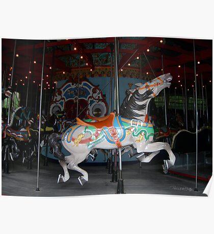 Central Park Carousel Horse Poster