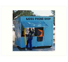 Phone Shop, Maun, Botswana Art Print