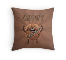 Chewy Chocolate Cookie Wookiee Throw Pillow