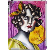 Neotraditional Tattoo Flapper Girl  iPad Case/Skin