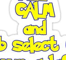 Keep Calm and Twitch Sticker