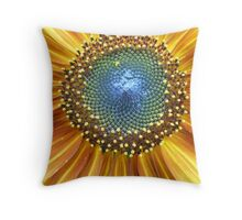 Sunflower Center Throw Pillow