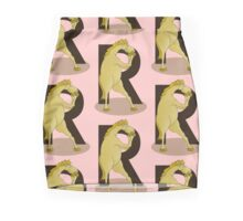 Monogram R Pony Pencil Skirt