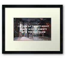 Black Widow: Red Room origins Framed Print