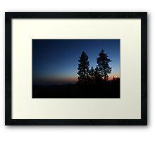 Sunset Ridge Framed Print