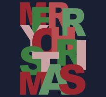 Christmas Colors Typography Kids Tee