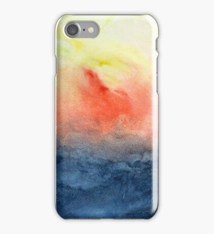 Brush Fire - Abstract Watercolor Landscape iPhone Case/Skin