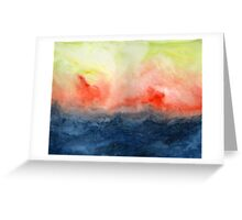 Brush Fire - Abstract Watercolor Landscape Greeting Card