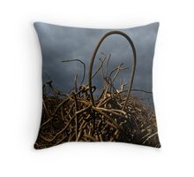 Entangled in Chaos Throw Pillow