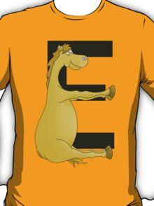 Pony Monogram Letter E T-Shirt