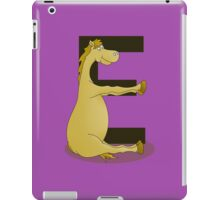 Pony Monogram Letter E iPad Case/Skin