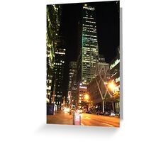 Night on Bay St. Greeting Card