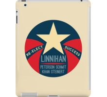 Re-Election Linnihan Khan Patriotic Logo iPad Case/Skin