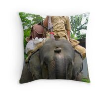 Assamese game warden setting out on a one week patrol. Throw Pillow