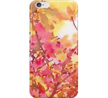 Cherry Blossom Canopy Watercolor iPhone Case/Skin