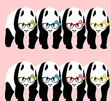 Panda Wearing Glasses by piedaydesigns
