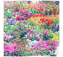 Secret Garden - Impressionist Garden Watercolor Painting Poster